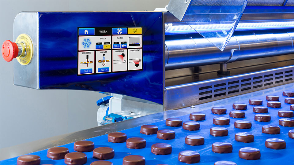 Coating line: animated touch screen command panel