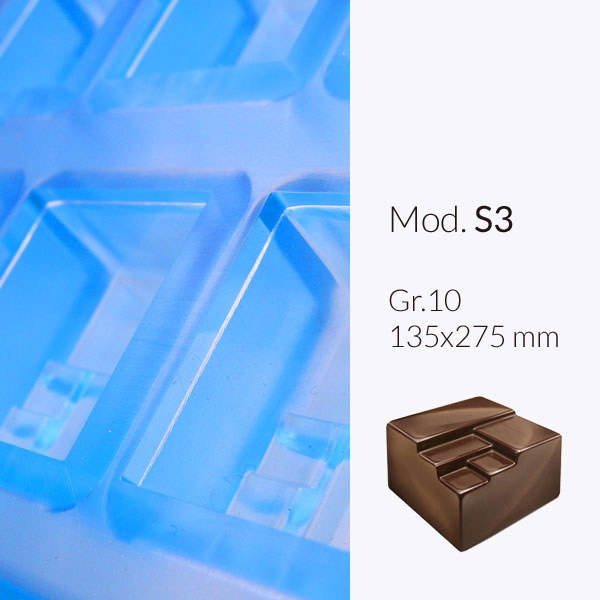 Chocolate moulds applicable to Colatore. Pralines moulds