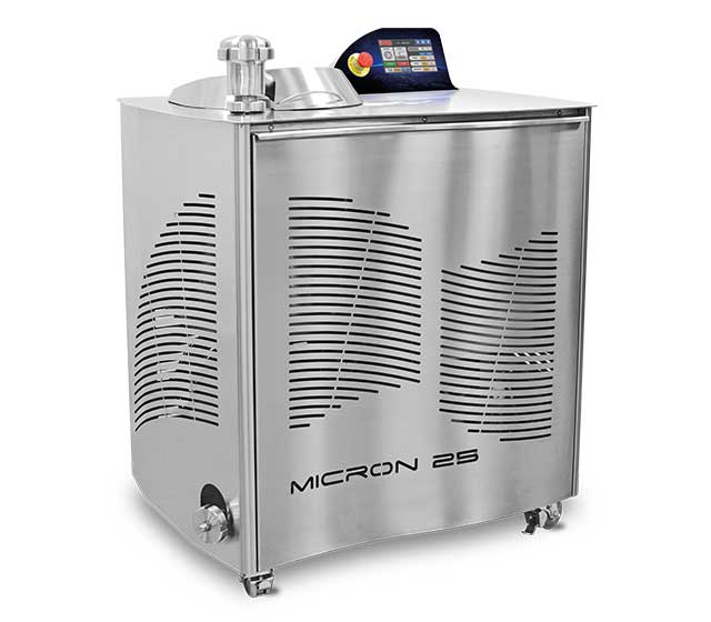 Micron 25: Ball refiner, designed for refining dried fruit granules into paste